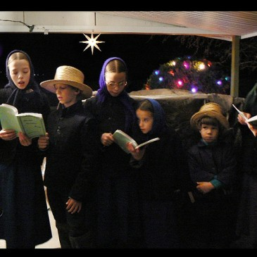 Amish Children singing Christmas carols