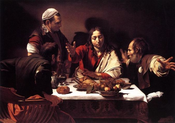 "Caravaggio, ""Supper at Emmaus"" (1601)"