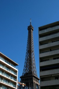 View of the Eiffel Tower from a Hilton Hotel in Paris
