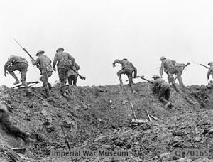 Staged combat scene from the Battle of the Somme film (1916)