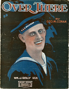 "Sheet music for ""Over There"" by George M. Cohan"