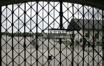 The gate of Dachau
