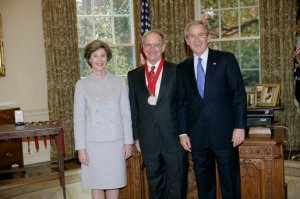 John Lewis Gaddis receiving the National Humanities Medal