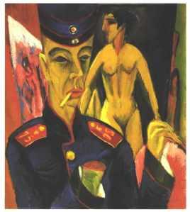 Kirchner, Self-Portrait as Soldier