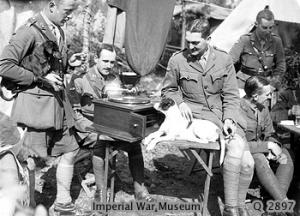 British Officers Listening to the Gramophone