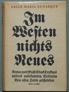German first edition of All Quiet on the Western Front