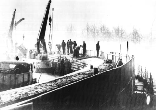 The Berlin Wall under construction
