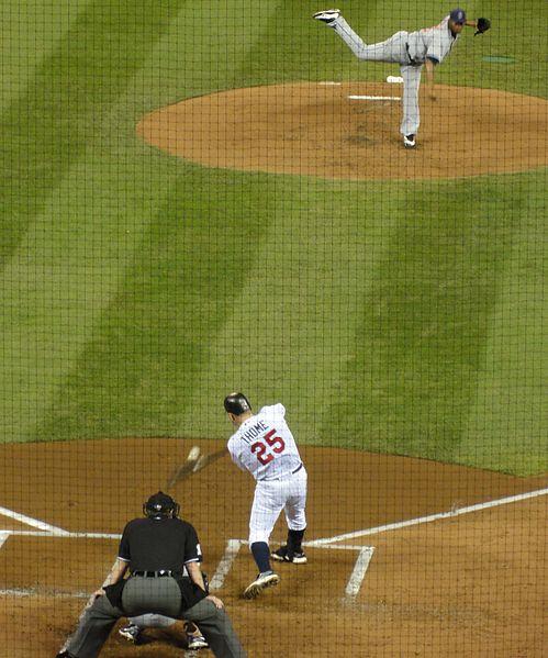 Jim Thome hitting a home run
