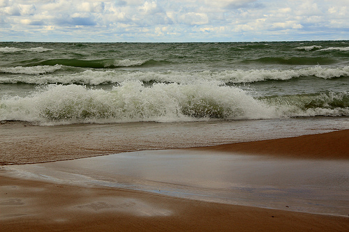 Beach on Lake Michigan