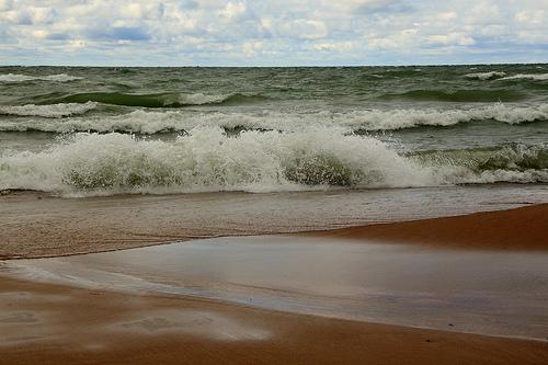 Beach on Lake Michigan