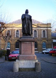 Statue of John Wesley in London