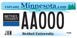 Bethel License Plate