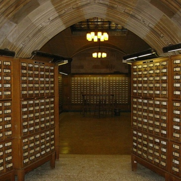 Sterling Library Card Catalog