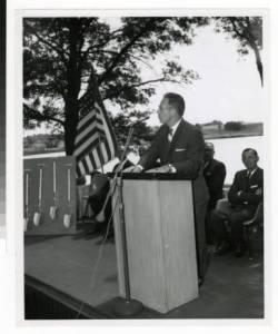 Lundquist at Seminary Groundbreaking, 1964