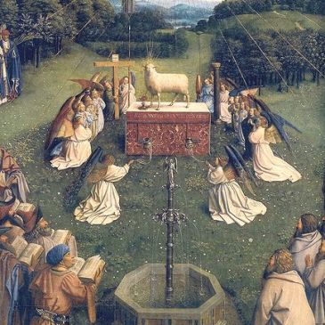 "Jan Van Eyck, ""The Adoration of the Lamb"""