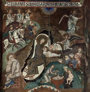 12th Century Italian Mosaic of Nativity