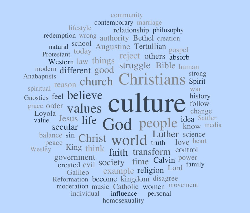 christians and culture the pietist schoolman cwc synthesizing essay word cloud