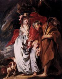Jordaens, Return of the Holy Family (1616)