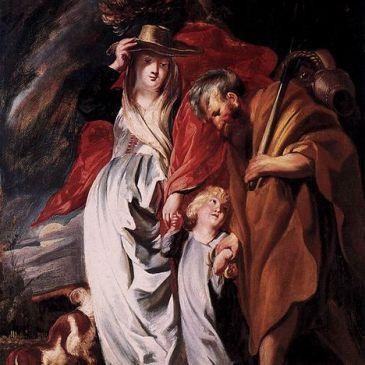 Jordaens, Return of the Holy Family (1616)