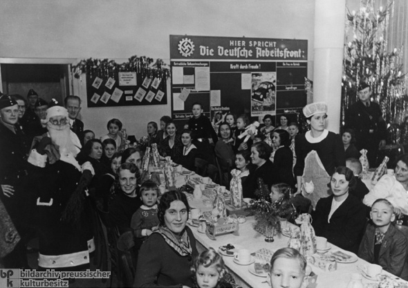Christmas Party at Mercedes Benz, 1938