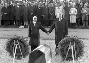 Mitterrand and Kohl at Verdun