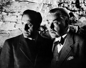 Rathbone and Bruce in The Secret Weapon (1943)