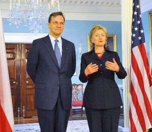 Sikorski with Hillary Clinton