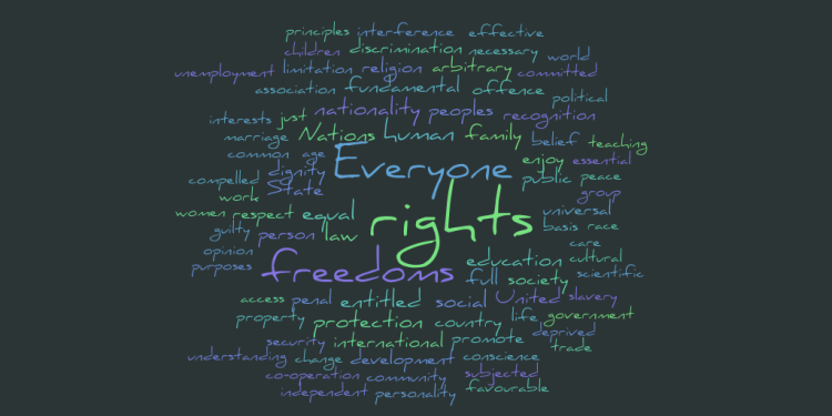 Universal Declaration of Human Rights Word Cloud