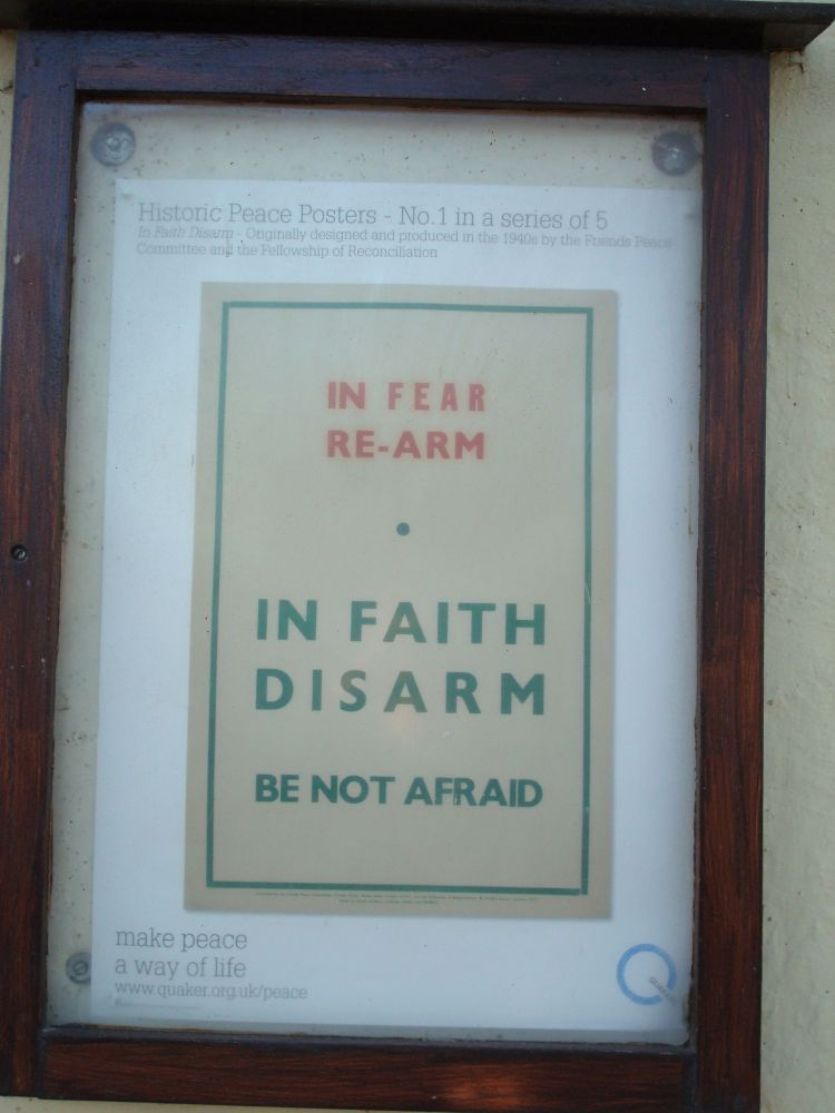 Quaker Anti-War Poster in Oxford