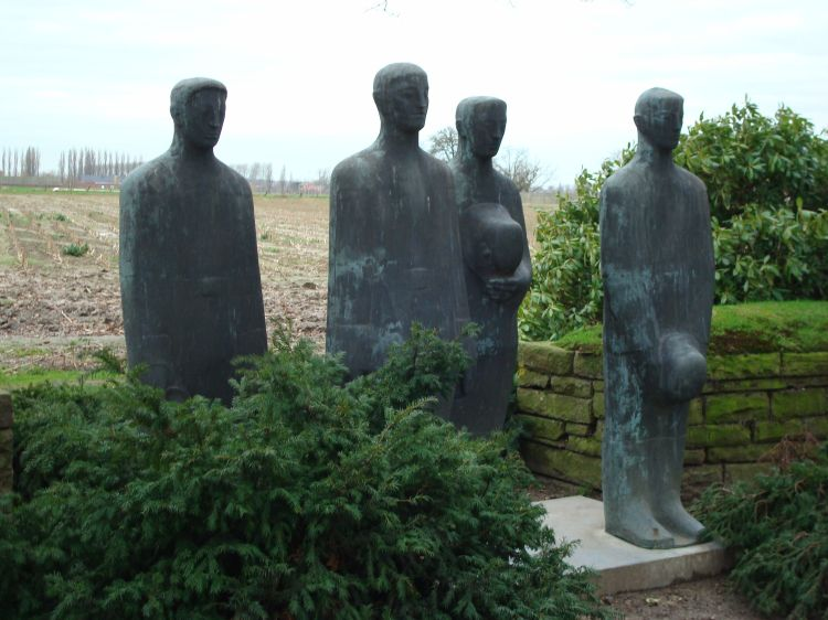 Emil Krieger's Mourning Soldiers at Langemark Cemetery