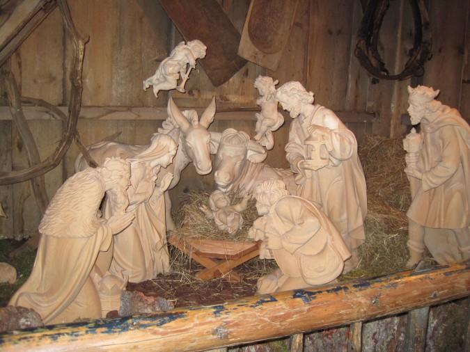 Nativity Scene in Hamburg Christmas Market
