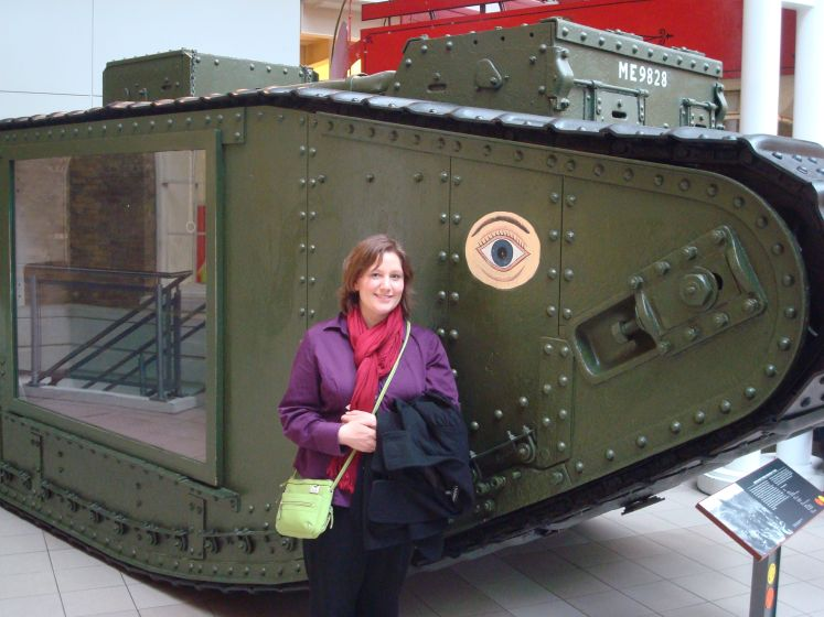 Katie and WWI Tank