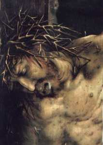 Grünewald, Crucifixion (head)