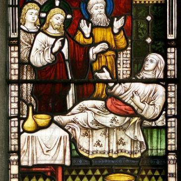Jesus heals Peter's mother-in-law