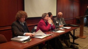 Panelists for the roundtable discussion that concluded our Colloquium on Pietism Studies, 4/20/12