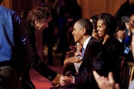 Bob Dylan and Barack & Michelle Obama