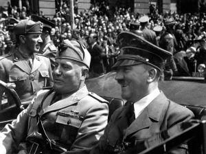 Benito Mussolini and Adolf Hitler, 1940