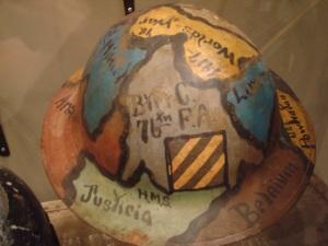 Painted American WWI helmet
