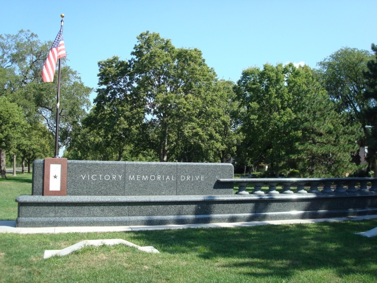 The southern entrance to Victory Memorial Drive