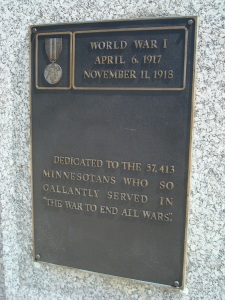 WWI Plaque, Court of Honor