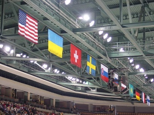 Flags at 2002 Winter Olympics