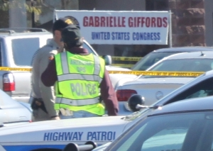 Crime scene after shooting of Gabby Giffords