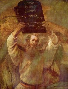 Rembrandt, Moses Smashing the Tables of the Law