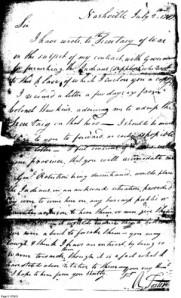1797 War Department Letter