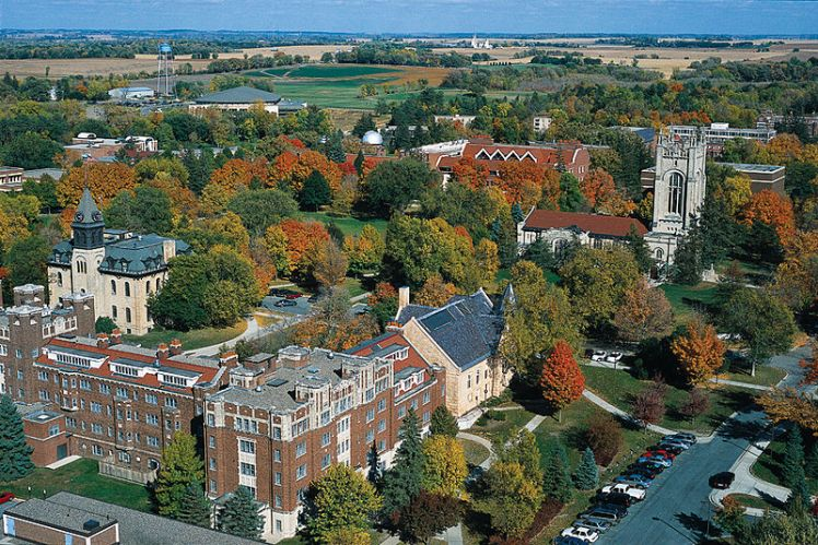 Aerial view of Carleton College