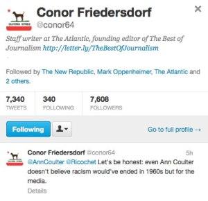 Friedersdorf's feed on Twitter