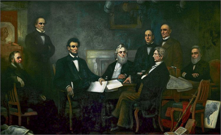 Carpenter, First Reading of the Emancipation Proclamation