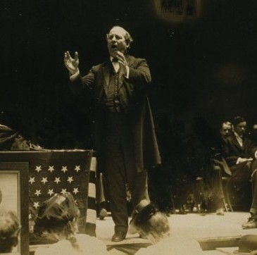 Bryan speaking in 1908