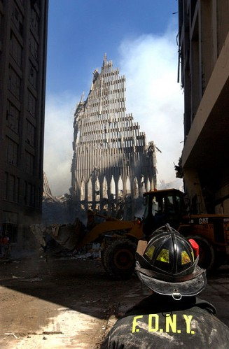 The remnant of the World Trade Center