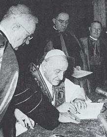 John XXIII signing Pacem in Terris